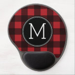 "Rustic Red &amp; Black Buffalo Plaid Pattern Monogram Gel Mouse Pad<br><div class=""desc"">A rugged and masculine design with an area for monograms. A classic, traditional pattern that has been around for years. If you need to adjust the artwork or change the font, you can click on the customize area. This will take you to the design tool where you can make many...</div>"