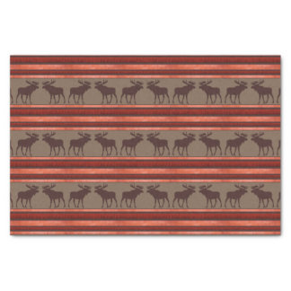 "Rustic red brown moose pattern tissue paper 10"" x 15"" tissue paper"
