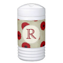 Rustic Red  Flowers Pattern Cooler