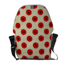 Rustic Red  Flowers Pattern Messenger Bag