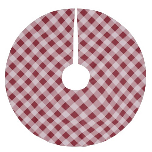 Rustic Red Gingham Country Christmas Tree Skirt