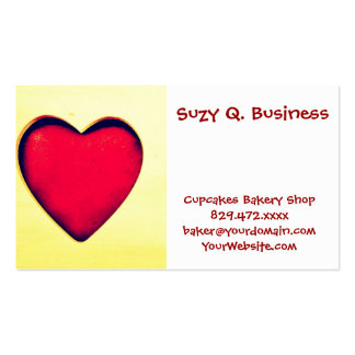 Rustic Red Heart Valentine's Day Love Business Card Template