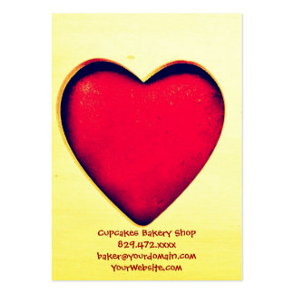 Rustic Red Heart Valentine's Day Love Business Cards