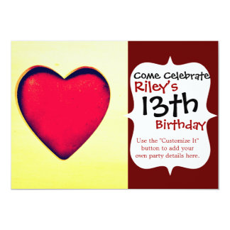 Rustic Red Heart Valentine's Day Love Card