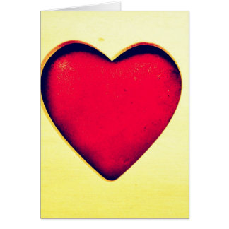 Rustic Red Heart Valentine's Day Love Cards