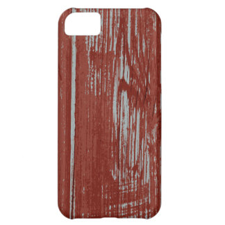 Rustic Red Painted Wood Effect Cover For iPhone 5C