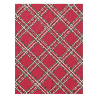 Rustic Red Plaid Tablecloth