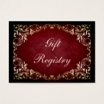 rustic red regal Gift registry  Cards