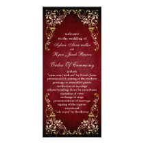 rustic red regal  wedding program