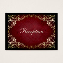 rustic red regal wedding reception cards