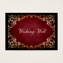 rustic red regal wishing well cards