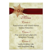 Rustic red snowflakes , card