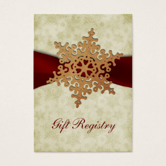 rustic red snowflakes Gift registry  Cards