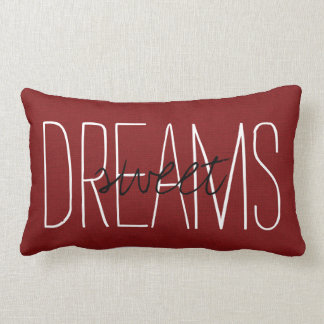 Rustic Red Sweet Dreams Lumbar Pillow