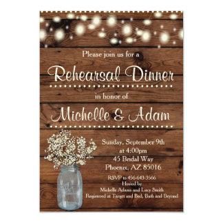 Rustic Rehearsal Dinner Invitation, Rehearsal Invitation