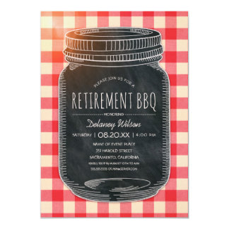 Rustic Retirement BBQ Corporate Picnic Party Card