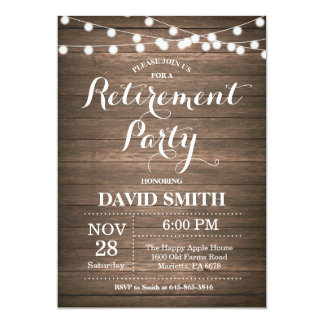 Rustic Retirement Party Invitation Card