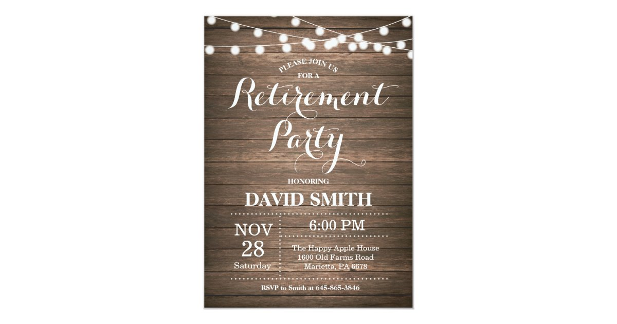Beautiful Retirement Party Invitation Card Photos - Invitation Card ...