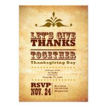 Rustic Retro Thanksgiving Invitation