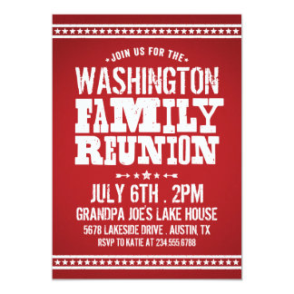 Rustic Retro Vintage Family Reunion Card