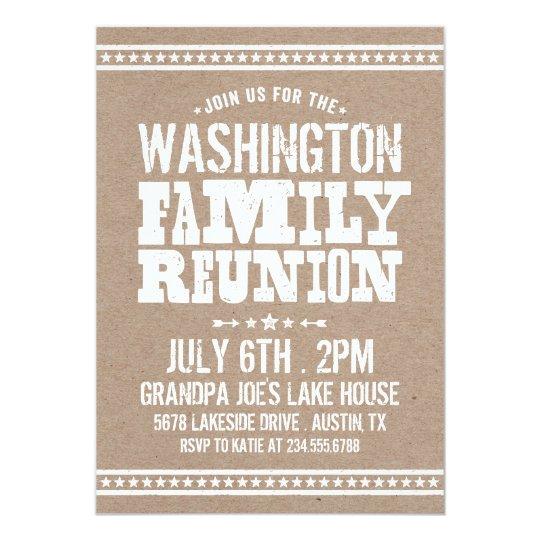 Rustic Retro Vintage Family Reunion Card