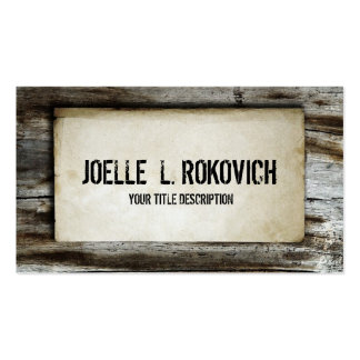 Rustic Retro Wood Plank Business Card Template
