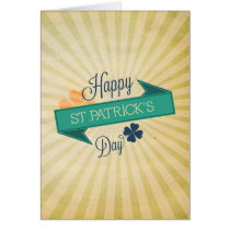 Rustic ribbon banner St Patrick's day card