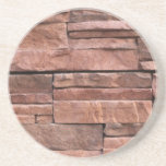 Rustic River Red Rock Brick Wall Fireplace Pattern Coasters