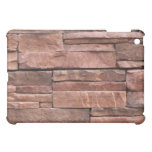 Rustic River Red Rock Brick Wall Fireplace Pattern iPad Mini Cases