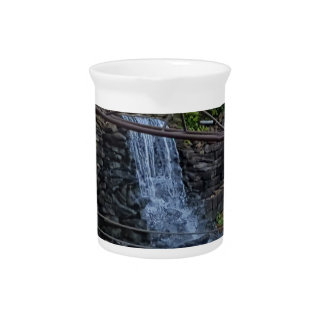 Rustic Rocky Waterfall On the Shoreline of Lake Drink Pitcher