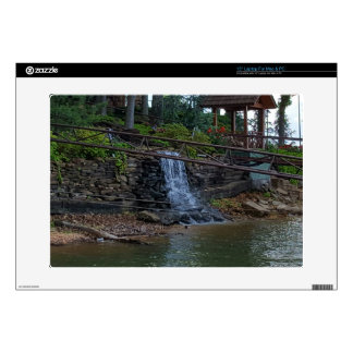Rustic Rocky Waterfall On the Shoreline of Lake Laptop Decal
