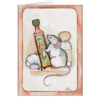 Rustic Rodent- Tabasco the Mouse Greetings Card