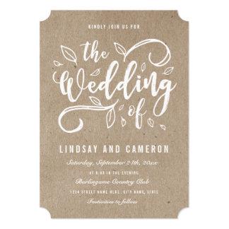 Rustic Romance | Faux Kraft Paper Wedding Invite