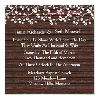Rustic Romance Wedding Invitation