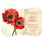 Rustic Romantic Red Poppy Wedding Invitations