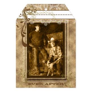 Rustic Romantic Vintage Chandelier Your Photo Card