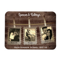 "Rustic, Romantic & Vintage ""Save the Date"" Wedding Magnet"