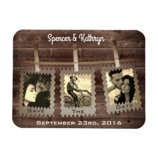 """Rustic, Romantic & Vintage """"Save the Date"""" Wedding Magnet"""