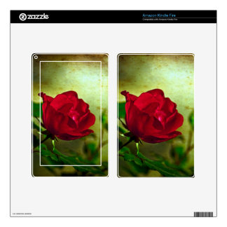 Rustic Romatic Rose Decals For Kindle Fire