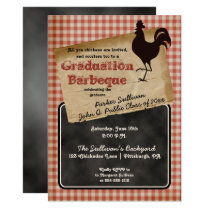 Rustic Rooster Backyard BBQ Graduation Party Invitation