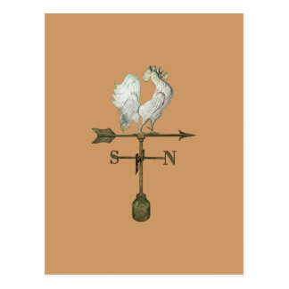 Rustic Rooster Postcard