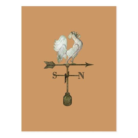 Rustic Rooster Postcard