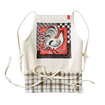 Rustic Rooster - White Version - Apron