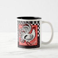Rustic Rooster - White Version - Mug