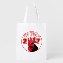 Rustic Rooster Year 2017 reusable bag 2