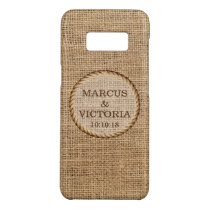 Rustic Rope Country Wedding Hessian Case-Mate Samsung Galaxy S8 Case