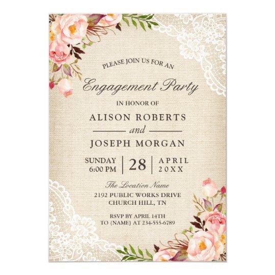Rustic Engagement Party Invitations & Announcements | Zazzle