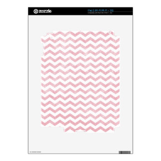 Rustic Rose Pink Chevron Pattern Decal For iPad 2