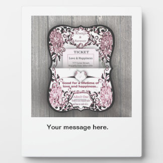 Rustic Rose Ticket to Love Photo Plaques