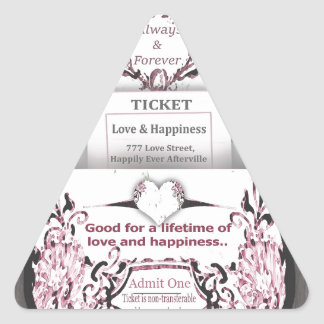 Rustic Rose Ticket to Love Triangle Sticker
